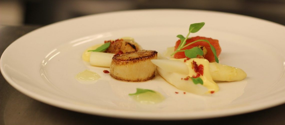 scallop, food, appetizer